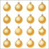 Set of Christmas ornament — Stock Vector
