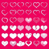 набор символ сердца — Cтоковый вектор