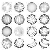 Spheres set — Stock Vector