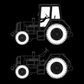 Agricultural machinery, tractors — Stock Vector