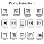 Drying instruction — Stock Vector