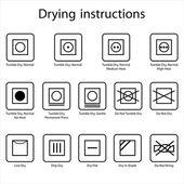 Drying instruction — Stockvektor