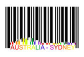 Australia Sydney barcode — Stock Vector