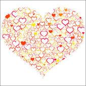 Färgglada alla hjärtans dag — Stockvektor
