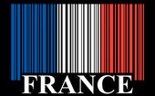 French barcode flag, — Stock Vector