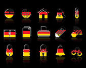 Colorful Germany Web Site & Internet icon set — Stock Vector