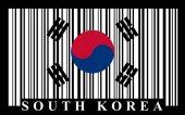 Korean barcode flag — Stock Vector
