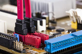 Motherboard SATA socket — Stock Photo