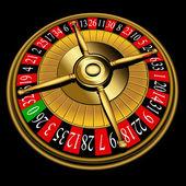 Ruota della roulette — Vettoriale Stock