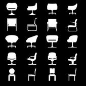 Set of Modern chairs — Stock Vector