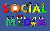 ソーシャル メディアの文字 — ストックベクタ