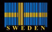 Sweden barcode — Stock Vector