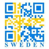 Sweden QR code — Stock Vector