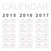 Simple Calendar — Stock Vector