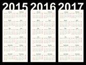 Simple Calendar — Stock Vector