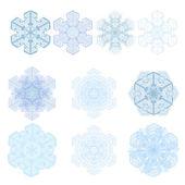Snowflake winter set — Stock Vector