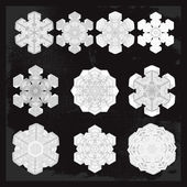 Snowflake winter set — Stock Vector