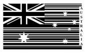 Australia barcode flag — Stock Vector