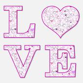 Kärleksbrev, vektor — Stockvektor