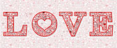 Love letter background — Stock Vector