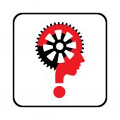Question mark and gear — Stock Vector