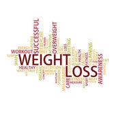 Weight loss Tag Cloud — Cтоковый вектор