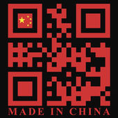 China QR code flag — Stock Vector
