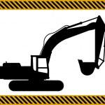 Loader excavator machinery equipment — Stock Vector #73751111