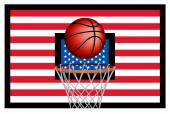 USA basket ball — Stock Vector