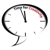 Bubble clock Time for Creativity — Stock Vector