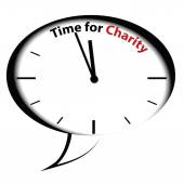 Bubble clock Time for Charity — Stock Vector
