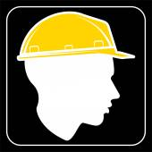 Worker sign - Construction Site — Stock Vector