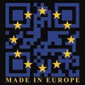 EU QR code flag — Stock Vector