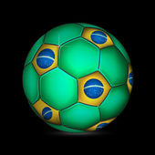 Fifa dünya kupası brezilya top — Stok Vektör