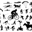 30 high quality sport silhouettes — Stock Vector #53255897