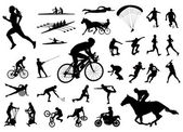 30 high quality sport silhouettes — Stock Vector