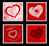 Valentines stamps — Stock Vector