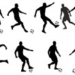 Soccer players detailed silhouettes set — Vecteur #69251297