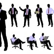 Business people silhouettes — Stock Vector #72065889