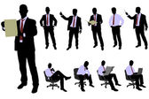 Business people silhouettes — Stock Vector
