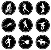 Simple sport icons set — Stock Vector