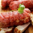 Raw beef roll stuffed — Stock Photo #59544849