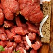 Raw beef roll stuffed — Stock Photo #59544999