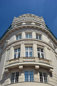Fragment of Vienna architecture, facade of old building — Stock Photo