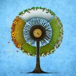 Round tree four seasons — Stock Photo #52559899