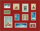 Christmas Stamps — Stock Photo