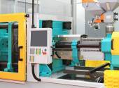 Injection moulding machine — Stock Photo