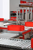 Conveyor belt rollers — Stock Photo