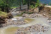 Bridge destruction — Stock Photo