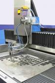 Water jet cutter — Stock Photo